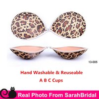 Wholesale Silicone Breast Top - leopard Invisible Self-Adhesive Silicone NuBra A B C Cups Cheap Bridal Wedding Underwear Nu Bra for Strapless Backless Tops Dresses