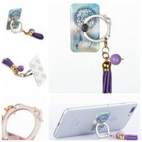 Wholesale Eiffel Iphone - 360 Degree Finger Ring Dreamcatcher Mobile Phone Stand Holder For iPhone X 8 7 6S Note8 S8 Tablet Flower Marble Love Eiffel Tower Metal Ring