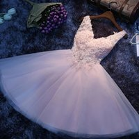 Wholesale Short Bubble Prom Dresses - 2016 Lace Flower Girls Dresses For Weddings Short Ball Gowns Pageant Dresses With pink flower Tutu bubble skirt Quinceanera Dresses