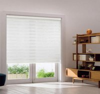 Wholesale Roller Shades Windows - Custom Size Double layer Roller Zebra Blinds Curtains for Room Window 30 Colors are Available