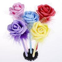 rosenbälle s großhandel-Kreative schöne Rose Kugelschreiber Valentinstag Geschenk kreatives Briefpapier Cartoon schöne Kugelschreiber Fabrik Direktverkauf