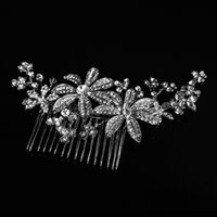 Beijia New Shine Rhinestone Cheveux nuptiaux Jewerly Silver Wedding Hair Peit Accessoires Femmes Headwear Ornements G410