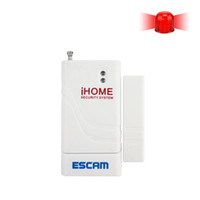 Wholesale Home Alarm Magnetic Window Sensors - Escam Door Window Wireless Burglar Alarm with Magnetic Sensor Home Safety Longer System Security Device White Wholesale