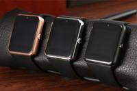 digitaluhren sim-karte großhandel-Smart Watch Clock Sync Notifier Unterstützung Sim TF Karte Bluetooth Smartwatch Für Apple Android Phone