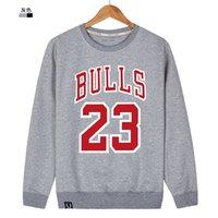 Wholesale New Korea Hoodies - New Summer And Autumn Korea Women's Men's Casual hoody Hoodies 23 Bull Print Long-Sleeve Sports Plus Size Sweatshirts
