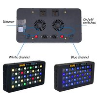 Wholesale Led Coral Reef Lighting - MarsHydro Dimmable 165W LED Aquarium Lights Full Spectrum for Reef Coral LPS SPS,Two Switches, Two Dimmers for 24''*24'' tank
