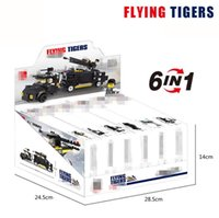 Wholesale Particle Model - 490pcs Military Model Building Sets Small Particles Assemble Bricks Six In One Transform Block Puzzle Gift for Boys