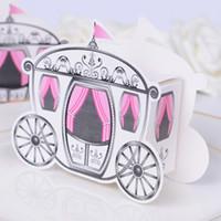 caixas favoritas de doces favoritas venda por atacado-100 pcs Fairytale Princesa Carriage Candy box Nupcial Do Casamento Favor de Chocolate Caixas De Presente Original e Bonito Design Novo