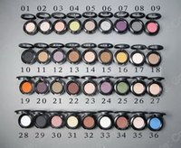 Wholesale Violet Name - 36 colors 1.5g Eyeshadow Single Eyeshadow with English Name 216pcs