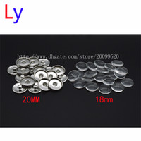 Wholesale Wholesale Bead Custom Jewelry - Custom jewelry Snap Button Making Brass Snap Buttons with Clear Glass Cabochons, Platinum, Clear, Button: 20mm(Add freedom print photos)