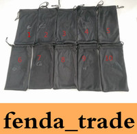 venda da fábrica do logotipo venda por atacado-Preto sacos para Óculos de Sol LOGOTIPO sacos de Marca VENDA QUENTE qualidade Preço de Fábrica 10 opções de cores terno para tamanho normal MOQ = 50 pcs Navio Rápido