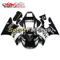 Wholesale 98 r1 fairings white black - West Black White Full Fairings For Yamaha YZF R1 98 99 YZF-R1 1998 1999 Motorcycle Fairing Kit Bodywork ABS Cowlings Covers