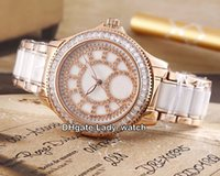 Super Clone Marke J12 Miyota Automatische White Shell Automatische Damenuhr Rose Gold Keramik Fall Band Diamant Lünette Fashion Lady Uhren