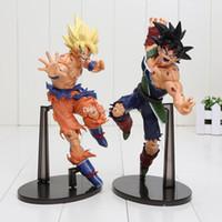 Wholesale Good Gods - Dragon Ball Z Resurrection Of F 22CM Dragonball Z Styling God Super Saiyan Son Goku Bardock Figure two styles can choose