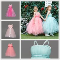 Wholesale Cheap Infant Gowns - 2017 new flower Girls Dresses cheap lace ball gown bridal little girl dresses for piano girls lovely pageant dress infant pageant dress
