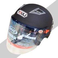 Wholesale Helmet Face Lens - Harley Summer Motorcycle Helmet Anti-UV Windproof Double Lens Ventilation Breathable Safe Helmet Four Seasons General Helmet