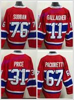 Ice Hockey Men Full 2016 Winter Classic Canadiens Jerseys Montreal Hockey  76 P.K. Subban 31 Carey 7ff2ba1d9