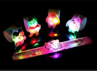 Pats Led for sale - HOTTEST 12 pcs lot LED flash patted circle children glowing bell ring bracelet wrist band party cartoon decoration wholesale