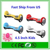 Wholesale Electric Bicycle Set - US Stock 4.5 Self Balancing Kids Hoverboard Scooter 2 Wheel Electric Bicycle Smart Balance For Children Carry Full set of protective gears