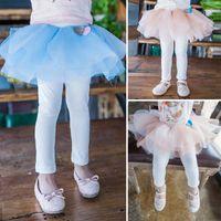 Wholesale Korean Style For Autumn - Girls Tights Baby Pants Princess Leggings For Kids Korean Girl Dress 2016 Spring Summer Leggings Children Clothes Kids Clothing Ciao C23596