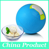 Wholesale New Arrival Interesting DIY Ice Cream Maker Lovely SoftShell Ice Cream Ball Machine for kids Home