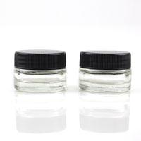 ingrosso jar dhl-Contenitore di vetro temperato per alimenti in vetro temperato 5ml Contenitore di vetro temperato per contenitori in ceramica con coperchio nero