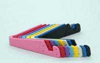 freie handzelle großhandel-neue Vförmige Universal Faltbare Handy Ständer Halter Tragbare Tablet PC Faltbare Pad Handy Hand Frei Halter Ständer