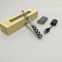 Wholesale Ego K Box - Electronic cigarette vape pen starter kits E-cig ego k battery 510 battery skull metal tip atomizer with gift box package e liquid vaporizer