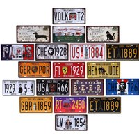 Wholesale Art Wall Plaque - 30*15 CM License Plates Vintage Tin Sign Art Wall Plaque decor Home Metal Painting Bar Metal Sign Art Painting Plaque
