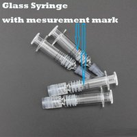 Wholesale Oil Measurement - 1ML Luer Lock Glass Syringe glass with measurement mark tip For Oil Cartridge Glass cartridge thick oil Tank