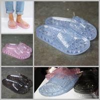Wholesale Ladies Jelly Sandals - 2017 Rihanna Leadcat X Fenty Bandana Crystal slippers Candy Girls Jelly Slides Bow Slipper Ladies Fashion Designer Beach shoes Sandals 36-40