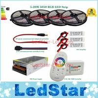 verstärker für led-streifen großhandel-5050 RGB LED Strip Bande Tape Reifen 20m 15m 10m 5m Komplettpaket + 18A RF Fernbedienung + Netzteil + Verstärker