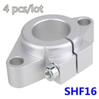 Wholesale Shaft Linear Guide Support - Wholesale- 4 pcs lot SHF16 Rod Holder Route Aluminum 16mm Linear Rail Shaft Guide SuppoRT