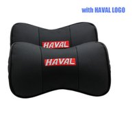 Wholesale Great Wall Hover H5 - SunShine 2 X Genuine Leather Car Headrest Pillow Neck Rest Pillow Seat Cushion Covers for Great Wall Hover Haval H2 H3 H4 H5 H6