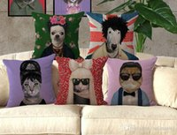 Wholesale Lady Gaga Cosplay - Cats dogs cosplay Famous Stars Lady Gaga Audrey Hepburn Michael Jackson cushion pillow cover decorative pillow case throw pillowcase gift
