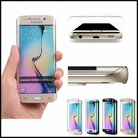 Wholesale Case S2 3d - 0.26mm 3D Full Curved Tempered Glass Phone Accessory Cover Case Capa For Samsung Galaxy S6 Edge   S6 edge Plus S7 edge Screen Protector