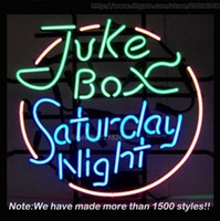 "Wholesale Commercial Gift Boxes - New Juke Box Saturday Night Neon Sign Neon Bulbs Store Display Real Glass Tube Quality Handcraft Commercial Fashion Gifts 17""x14"""