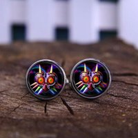 Wholesale Owl Legend - Legend of Zelda Game Majoras Mask Colorful owl movie jewelry Glass Round Charm Jewelry send of friend High Quality shirt Cufflinks jewelry
