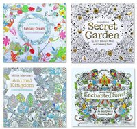 Unisex Big Kids Multicolor PrettyBaby Secret Garden Coloring Book Painting Drawing 24 Pages Animal Kingdom Enchanted Forest Relieve Stress For Children