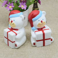 Wholesale Simulation Food - Christmas Bear Squishy Bear Squishies Simulation Food For Key Ring Phone Chain Toys Gifts All Kinds Of Style