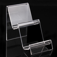 Wholesale Acrylic Bangle Stand - 10*7*11.5cm cellphone holder clear acrylic bracelets bangles watch wallet display rack jewelry holder with new nice design A90