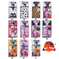 Flower Leopard Wallet Leather Case para Iphone 7 8 6S 6 Plus SE 5 5S Perfume Garrafa Cat Cow Pouch Stand Cell Phone Skin Cover 50pcs