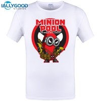 Minions in Deadpool White T-shirt Uomo O-Collo con 3xl Despicable ME Minion Dead Pool Maglietta Uomo Brand in Cotone Tees Uomo Top