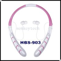 Wholesale Iphone Battery For Chinese Brand - HBS 903 bluetooth headphones neckband sports wireless stereo headset HBS903 HBS-903 earphone with CSR chip 350mah battery in retail box
