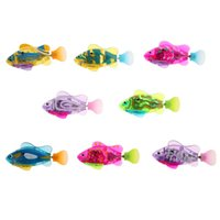 Wholesale Robo Fish Dhl - DHL free shipping 30PCS lot New Activated Battery Powered robo Toy Fish Childen Kids Robotic Pet