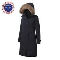 Wholesale New Womens Warm Coat - Real Big Raccoon fur 2017 Brand New Womens Goose Down Jacket Winter Jacket Warm kensington Shelburne parka Ladies Fashion X-Long Style Coat
