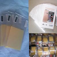 varejo tela clara iphone venda por atacado-Película protetora película protetora película protetora adesivo com pacote de varejo para o iphone 4 4s 5 se 6 s plus 7 mais iphone7 preço de fábrica