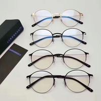 Wholesale Titanium Alloy Eyeglasses Frame - New eyeglasses frame Lindberg Spectacle Frame eyeglasses for Men Women Myopia Brand Designer Glasses frame clear lens With Original box