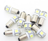 Wholesale Warm Led Bulbs Ba9s - 9pcs high brightness Cool white warm white yellow red T11 LED Car Lamps Ba9s base Automobiles light 5050SMD 5LED Tower bulbs
