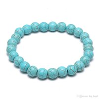 Wholesale Turquoise Beads Bracelets - Natural Lava Stone Turquoise Prayer Beads Charms Bracelets Anti-fatigue Volcanic Rock Men's Women's Fashion Diffuser Jewelry